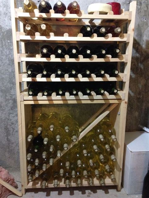 homemade wine rack  wine lovers