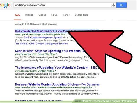 Ways Improve Search Engine Optimization Wikihow