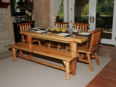 Bench Table For Kitchen, Kitchen Table With Benches Round