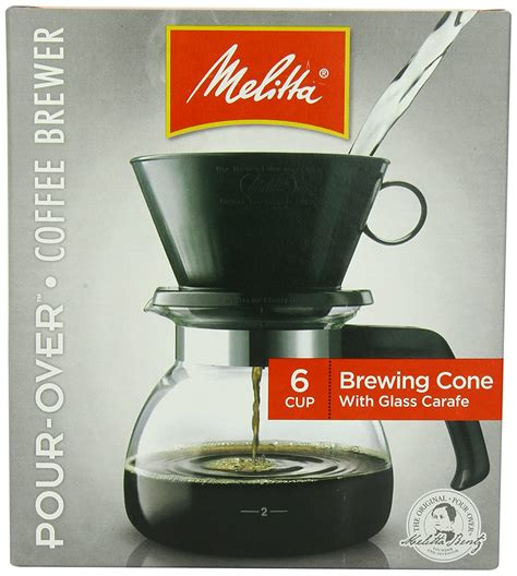 It's the hottest trend in coffee brewing (except we invented it over 100 years ago).includes: Melitta Coffee Maker, 6 Cup Pour-Over Brewer with Glass Carafe, 1-Count , New, F 55437640442   eBay