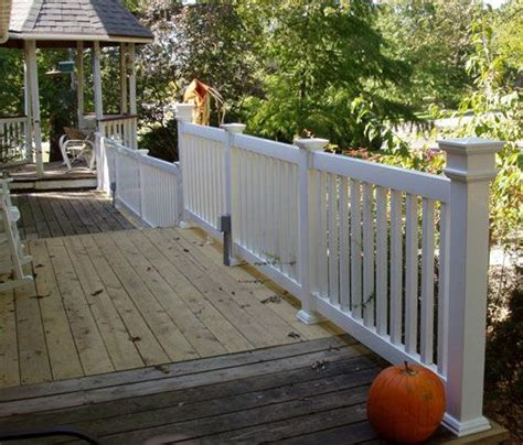 Wood Porch Railing Systems by Vinyl Porch Railing With Wood Deck No Paid To G Or