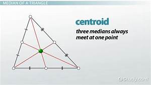 Where can the medians of a triangle intersect? | Study.com