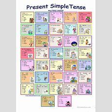 Present Simple Tense * Multiple Choice Exercise * With Key Worksheet  Free Esl Printable
