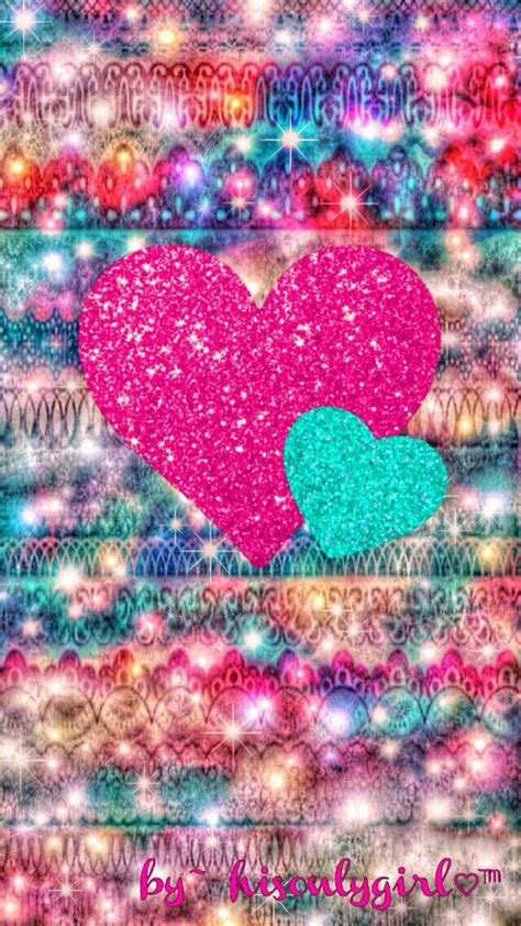 Choose how fast or slow you want your live wallpaper to. Colorful Hearts #GlitterBackground in 2019   Cellphone wallpaper, Heart wallpaper, Iphone wallpaper