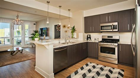 Apartment Kitchen by The Hesby Apartments Noho Arts District 5031 Fair Ave
