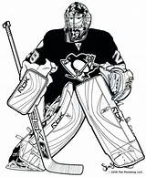 Hockey Coloring Pages Goalie sketch template