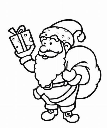 Claus Santa Coloring Pages Christmas Printable Snowman