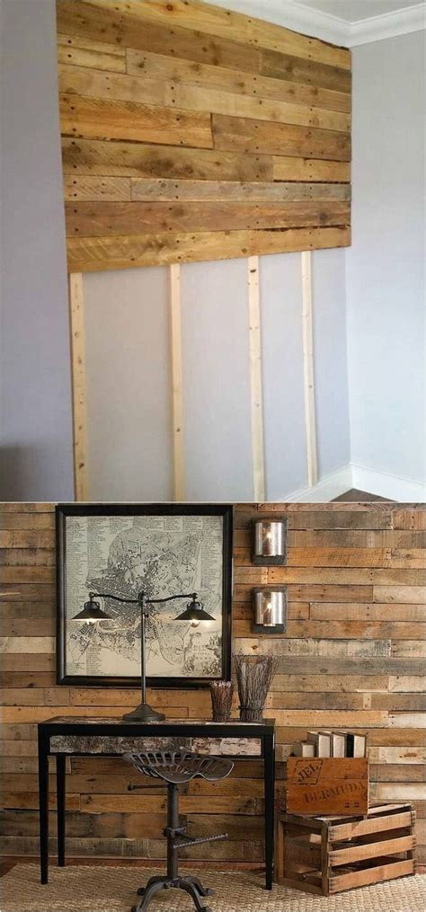 wood pallet wall accent wall tutorial dream home diy