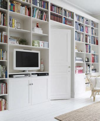 Bibliothek Möbel Ikea by Customized Bookshelves Completed With Unfinished Ikea