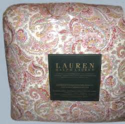 ralph king bedding set 4pcs pretty paisley pink blue ebay