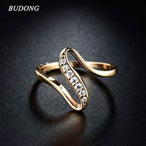 2017 cheap women finger rings gold plated engagement With wedding rings for women 2017
