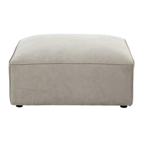 pouf de canapé pouf de canapé modulable en tissu beige malo maisons du