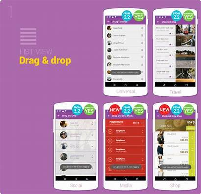 Android Ui Material App Template Animation Drag