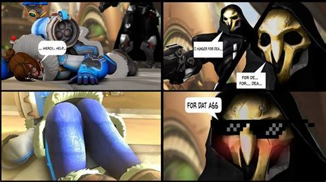 Even Reaper Knows A Great Booty When He Sees One Overwatch Know Your Meme