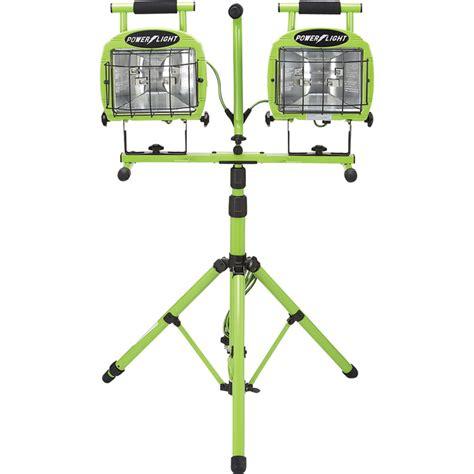 designers edge dual head halogen tripod worklight