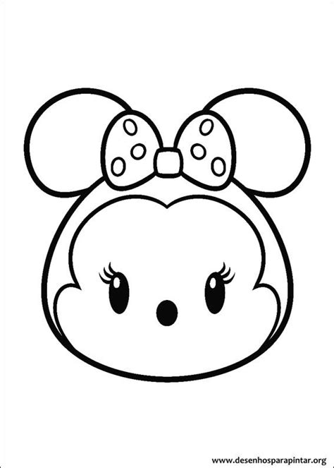 Coloring Tsum Tsum by Coloring Pages For Free Images Disney Tsum Tsum Free