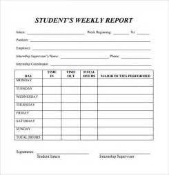 Sle Of Report Writing by Weekly Report Template 11 Free Documents In Pdf