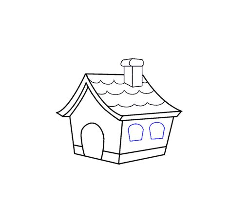 draw  cartoon house    easy steps easy