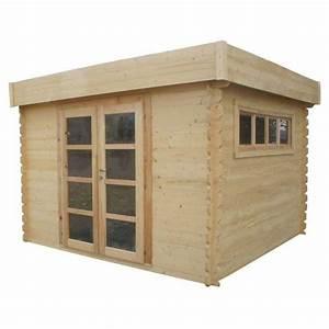 Abri De Jardin Petit : chalet jardin abri de jardin en bois toit plat 3x3m ~ Dailycaller-alerts.com Idées de Décoration
