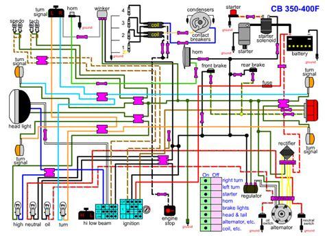cb400f wiring diagram 4into1 vintage honda