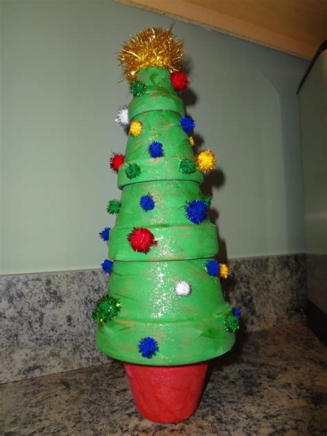 not so crafty mama clay pot christmas tree