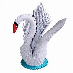 Origami Kranich Anleitung : modulares origami weisser schwan ~ Frokenaadalensverden.com Haus und Dekorationen