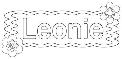 kostenlose malvorlage beliebte maedchennamen leonie zum