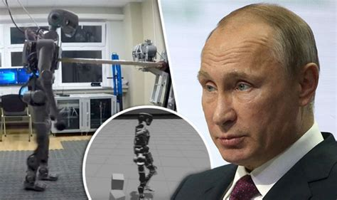 Vladimir Putin Launches Russian Humanoid Robot That He