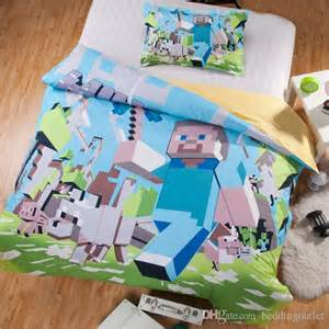 promotion 3d bedding sets minecraft bedding duvet cover set high quality cotton official design