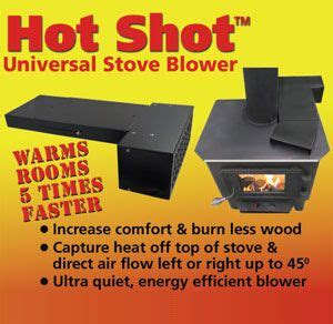 wood stove blower  heat  room faster  burn