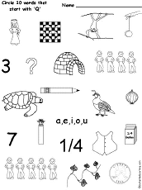 words that start with k preschool letter q alphabet activities at enchantedlearning 469