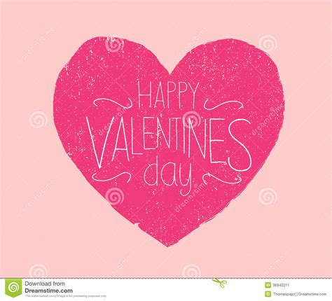 Happy Valentines Day used stock vector. Illustration of ...