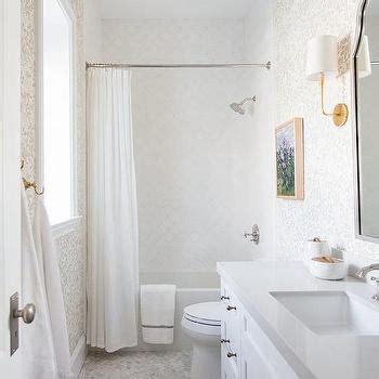 Serene Bathroom Dressed Silver by Silver Bathroom Wallpaper Design Ideas