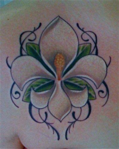 magnolia fleur de lis tattoo skin art pinterest