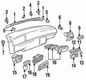1996 Volkswagen Jetta Gl Sedan 2 0l A  T Defroster Grille  Water Deflector  Instrument  Panel