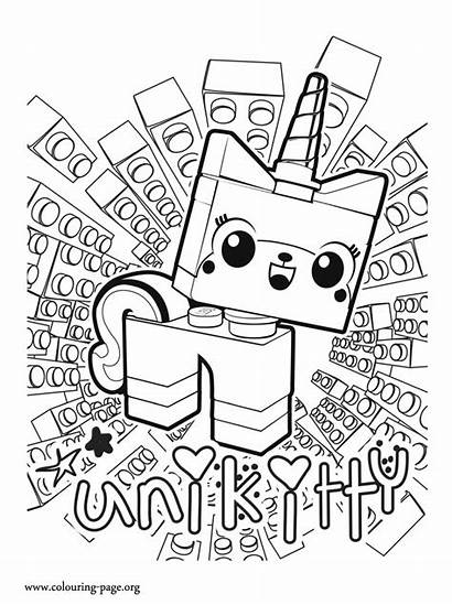 Lego Coloring Pages Colouring Unicorn Printable Land