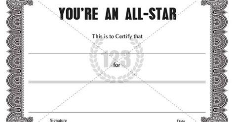 youre   star certificate template certificate