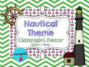 Nautical Themed Classroom Decorations by Nautical Theme Classroom Decor Green Apple Blue From