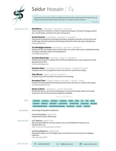 Interactive Resumes by 15 Best Images About Visuaalisia Cv Malleja On