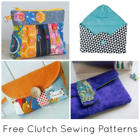 sewing templates 10 free clutch sewing patterns to bust your stash