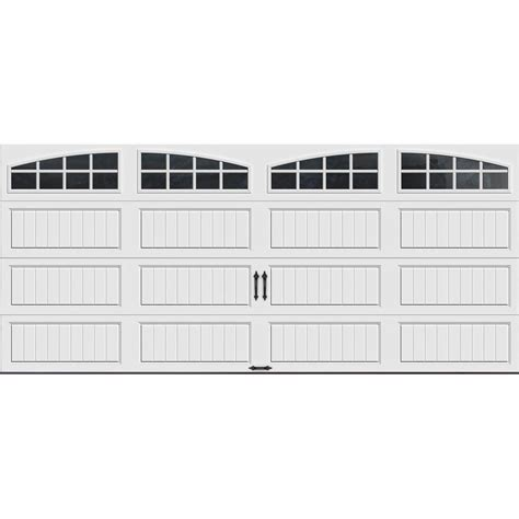 16 Ft Garage Door by Clopay Gallery Collection 16 Ft X 7 Ft 18 4 R Value