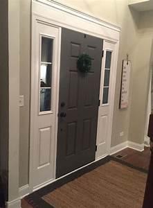 Easy, Door, Casing, And, Painted, Door, Color, Benjamin, Moore, Kendall, Charcoal, In, 2020