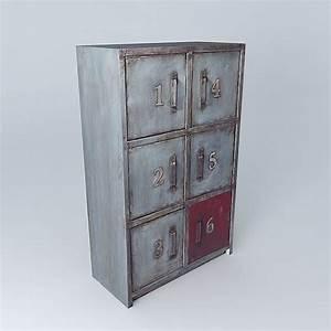 Cabinet Maison Du Monde : 3d the cabinet newton maisons du monde cgtrader ~ Nature-et-papiers.com Idées de Décoration