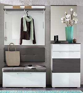 Garderoben Set Grau : garderobe schuhschrank weiss hochglanz grau woody 22 00808 4055496050592 ebay ~ Markanthonyermac.com Haus und Dekorationen