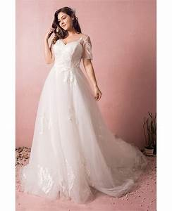 plus size boho beach wedding dress flowy lace with sleeves With plus size boho wedding dress