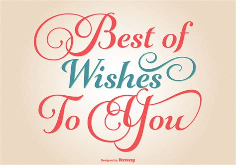 best wishes for typographic best wishes illustration free