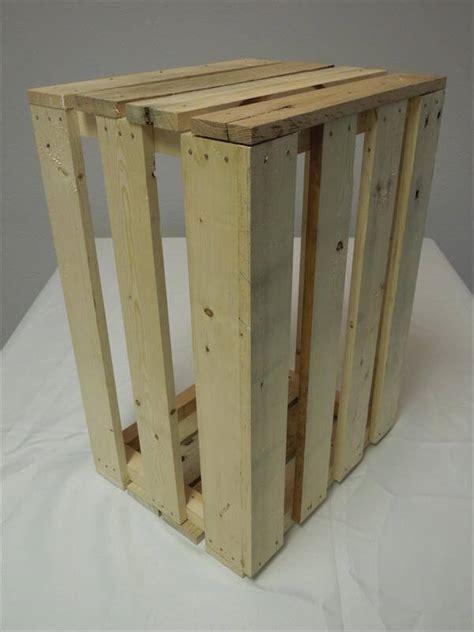 diy pallet wooden storage crate box  pallets