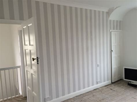 grey stripe wallpaper lille  laura ashley bedroom