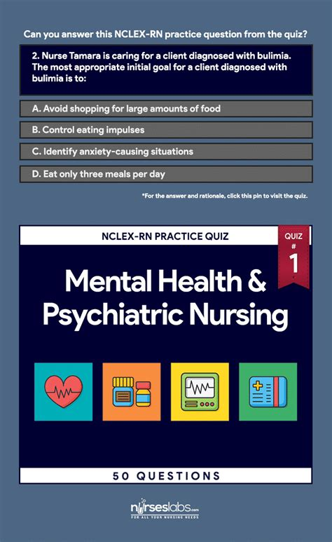 Questions And Answers For Mental Health Nurses by Quiz 1 Psychiatric Nursing Nclex Rn Practice 50