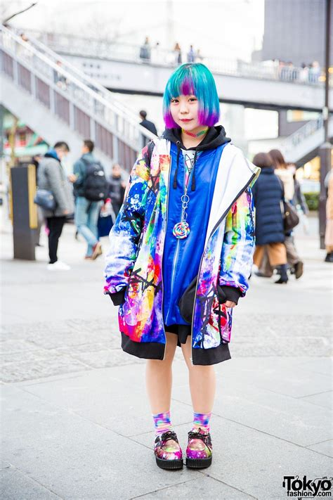 super colorful harajuku street style w ankorock gekirock